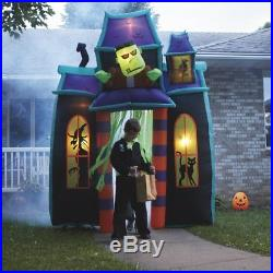 Huge Inflatable Haunted House 9' Outdoor Halloween Archway with Monsters Decor NEW