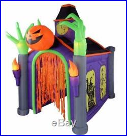 Huge Musical Halloween Haunted House Walk Thru Inflatable Light Up Yard Decor