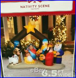 INFLATABLE CHRISTMAS Nativity Scene Outdoor Yard Greeter Giant Airblown 6.5 ft