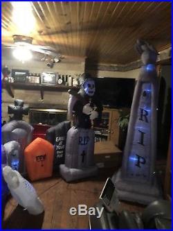 Illuminated Inflatable Graveyard Set, New