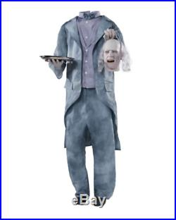 In Stock 64 Halloween Lifesize Animated Talking Headless Butler Haunted Prop