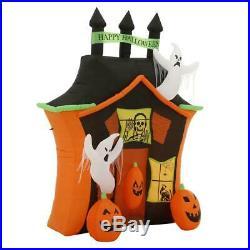 Inflatable Ghosts Pumpkins Haunted House Halloween Yard Decor Pre-Lit 9' Gemmy