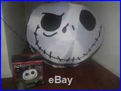 Jack Skellington Jack O Lantern Pumpkin Airblown Yard Inflatable Halloween