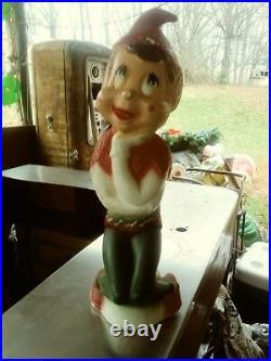 Judith Christmas Elf Blowmold Htf Very Rare