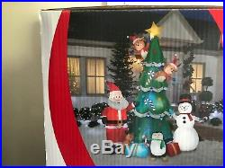 Kaleidoscope Animated Airblown Inflatable Chritmas Tree Swirling, turning Ligt