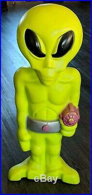 LIght Up Green Space Alien Blow Mold 36 General Foam Plastics USA Scarce
