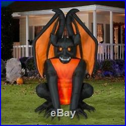 Large 8 Ft Gargoyle Inflatable Outdoor Halloween Decoration Lighted Yard Scary