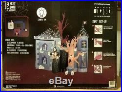 Large Inflatable Halloween Haunted House Gemmy air Blow Up 12 FT Long 29793-30
