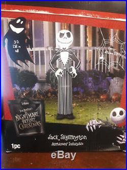 Life Size Jack Skellington Airblown Inflatable, Disney Infalable, Skeleton
