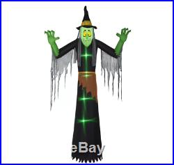 Lightshow Short Circuit Witch Inflatable with Clothing Giant Halloween Decor