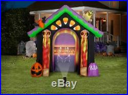 Living Projection Candy Corn House Archway Airblown Inflatable and LightShow