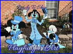 Mickey mouse disney hitchhiking ghosts Halloween yard art. READY TO SHIP