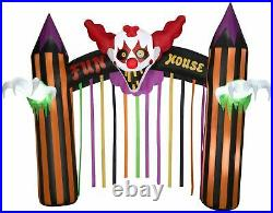 NEW 12' Lighted Clown Archway Halloween Inflatable Airblown Carnival Music Sound