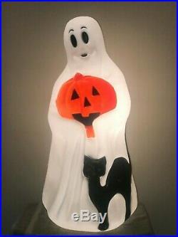 NEW Empire Lighted Halloween Blow Mold 34 Ghost Holding Pumpkin & Black Cat BOX