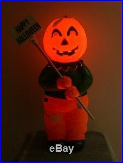 NEW Vintage Union 31 Halloween Blow Mold Goblin Man Yard Decor Don Featherstone