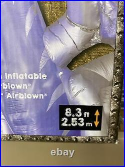 New 11.5 Ft Gemmy Silver Dragon Fire Ice Animated Inflatable Airblown Halloween