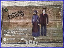 New 6.06 Ft Life Size Animated Skeleton Couple Haunted Halloween Spooky Lights