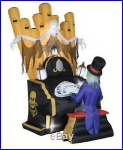 New 6.9 Ft Gemmy Haunted Organ Halloween Scene Zombie Skeleton Piano Lights Up