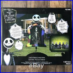 New 9.5 Ft Inflatable Jack Skellington Nightmare Before Christmas Projection