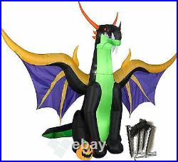 New Gemmy Halloween 13.5 ft Giant Winged Dragon Airblown Inflatable