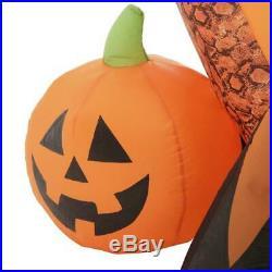 New Huge 16 Ft Inflatable Fog Effect Orange Serpent Air-Blown Dragon Halloween 9