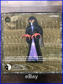 New Led 16 Ft Reaper Inflatable Haunted Halloween Projection Airblown Gemmy