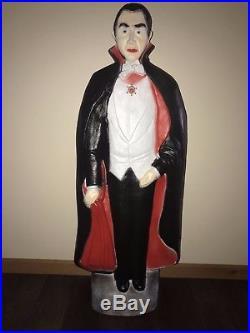 New Vtg Halloween 42 Union Bela Lugosi Lighted Blow Mold Decor Don Featherstone