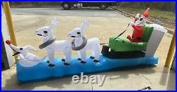 Nightmare Before Christmas Jack Skellington Sleigh Zero Inflatable Yard Decor