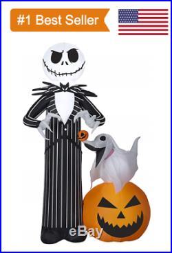 Nightmare Before Christmas Jack Skellington & Zero Halloween Inflatable Yard