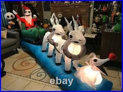 Nightmare Before Christmas Jack sleigh inflatable Zero Halloween Home Depot