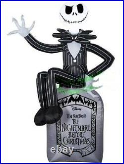 Nightmare Before Christmas Skellington TOMBSTONE Halloween AIRBLOWN INFLATABLE