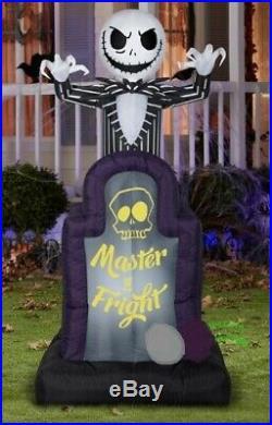 Nightmare Before Christmas Skellington TOMBSTONE Halloween AIRBLOWN INFLATABLE 6