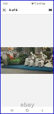 Nightmare before Christmas Inflatable Sleigh Jack Skellington reindeer Zero