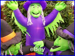 Original Animated Gemmy 3 Witches Halloween Airblown Inflatable Yard Decor