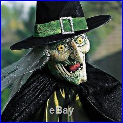 Outdoor Halloween Animated Witch Cauldron Display Haunted House Yard Prop Decor Halloween Yard Decor
