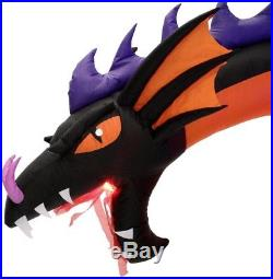 Outdoor Inflatable Halloween Lawn Decoration Air Blown Dragon LED Light Pre Lit