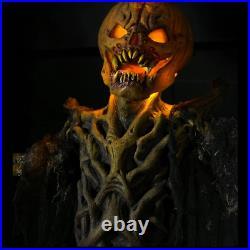 Pumpkin Stalker 8 Foot Halloween Prop Haunted House Light Up Patch Scarecrow