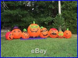 RARE 2006 GEMMY COLOSSAL OVER 12' Lighted Halloween Pumpkin Inflatable Airblown