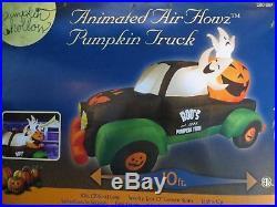 RARE! Animated Air Howz Pumpkin Truck Halloween Airblown Inflatable