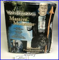 RARE FRANKENSTEIN VAN HELSING MASSIVE 7 FT TALL Inflatable Yard Halloween Prop