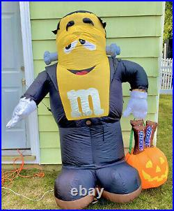 RARE Gemmy Halloween 6Ft Lighted M&M Frankenstein Snickers Airblown Inflatable