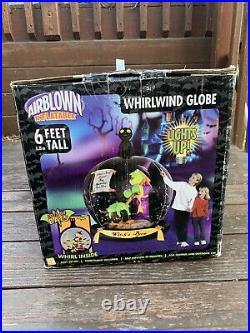RARE Original 2006 Gemmy Inflatable Witch Halloween Whirlwind Globe