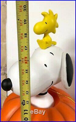 Rare 20 Snoopy Woodstock Pumpkin Lighted Halloween Blow Mold Greeter Peanuts
