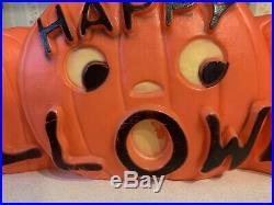 Rare 33 HAPPY HALLOWEEN BLOW MOLD PUMPKIN LIGHT, DON FEATHERSTON 1996