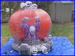 Rare Gemmy Halloween Airblown Inflatable Wirlwind Globe