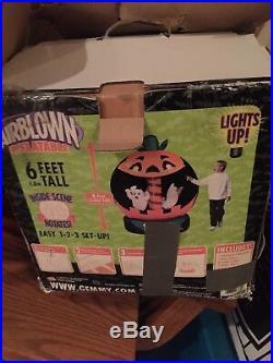Rare Halloween Airblown Inflatable Rotating Globe Spirit Halloween Gemmy! Trick
