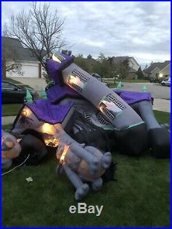 SEE VIDEO! Gemmy Airblown Inflatable Halloween HAUNTED HOUSE Mansion 12.5' Sound