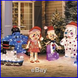 SET OF 5 3D Rudolph Movie Misfit Toy Lighted Sculptures Christmas Outdoor Yard