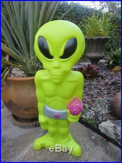 Scarce 36 Green Space Alien Light Up Blow Mold By General Foam Plastics USA Htf