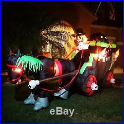 Seasonblow 11 Ft Halloween Carriage Decoration Inflatable Gharry Decorations Inf